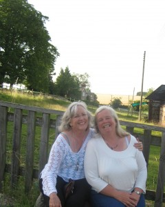 Kathleen & Yvonne at Hazeley Farm